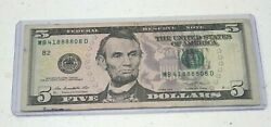 FANCY SERIAL NUMBERS LOT 2 2013 $5 FRN See Pics and Description $19.49