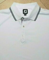 FJ FootJoy Short Sleeve Golf Polo Shirt Polyester Blend White XL $27.29
