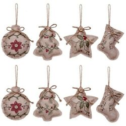 Rustic Christmas Tree Ornaments Stocking Decorations Burlap Country Stocking $13.99