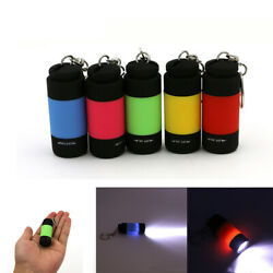 LED Mini Flashlight Keychain Torch Outdoor Waterproof Built in Battery Recharge $1.87