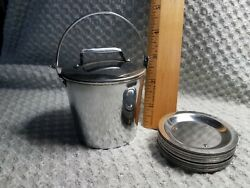 Stainless Bucket Holding Butter Pat Set $6.99