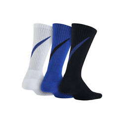 New Nike Kids Boys Socks 3 Pairs Graphic Cotton Cushion Shoe Size 3Y 5Y $15.00