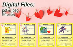 Pokemon Valentines for Classroom School Valentines Day Cards Printable $4.00
