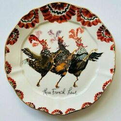 Anthropologie Inslee Fariss 12 Days of Christmas Plate 3 FRENCH HENS 1 Plate $65.00