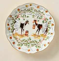 Anthropologie Inslee Fariss 12 Days of Christmas Plate 8 Maids Milking 1 Plate $60.00