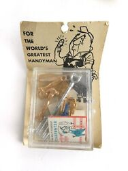 HOLLY HOUSE Novelty FOR THE WORLD#x27;S GREATEST HANDYMAN Metal Tools 60s $9.99