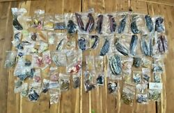 Lot of Worms Bait Soft Plastic Fishing Worms Fishing Bait UNUSED $38.99