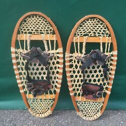 Vintage BEAR PAW SNOWSHOES 29x12 Snow Shoes BINDINGS $94.49