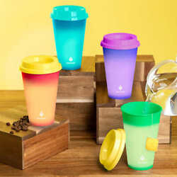 MANNA 12 Pack HOT Color Changing Reusable To Go Cups Set NEW 16oz 473mL w Lids $14.99