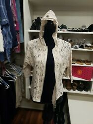 Cato Lace Jacket Size Small With Zipper And Hoodie $9.99
