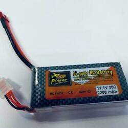 11.1V 25C 5000mAh Li poly RC Battery for RC Car FPV Drone Helicopter Mm New $28.99