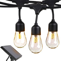 Brightech Ambience Pro Solar Outdoor String Lights Hanging 2W LED Bulbs 27Ft