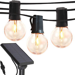 Brightech Ambience Pro Globe Solar LED String Lights 1W Bulbs 27Ft Warm White