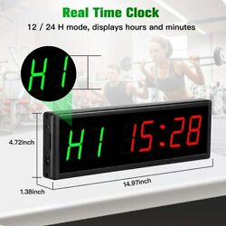 Interval Timer 2.3quot; Programmable Stopwatch for Fitness Office Living Room Home