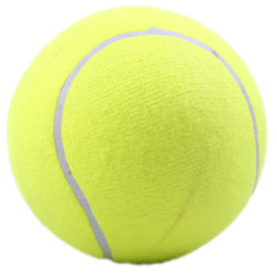 Uninflated Yellow 9.5 inch Dog Tennis Ball Large Pet Toys $14.02