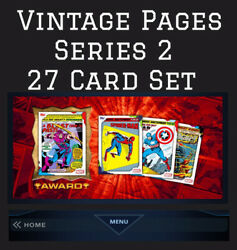 VINTAGE PAGES 27 CARD SET BLUE GREEN PURPLE TOPPS MARVEL COLLECT $1.89