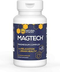 Natural Stacks MagTech Magnesium Complex 90 ct. High Quality Triple Blended $29.95