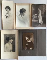 5 Antique Photographs lot women girls portraits early Chicago Illinois old photo $48.00