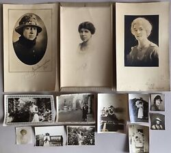 13 Antique Photographs lot women girls portraits early Chicago Illinois city old $68.00