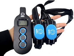 Dog Training Collar Rechargeable 2 Remote Shock Control Waterproof range 1000ft $30.00