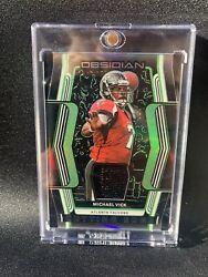 Obsidian Football 2020 Michael Vick Green Cutting Edge Relic Jersey Patch 30 $30.00