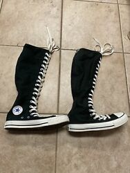 Converse All Star Womens 6 Mens 4 Zip Up Chuck Taylor Knee High Sneakers Shoes $104.99