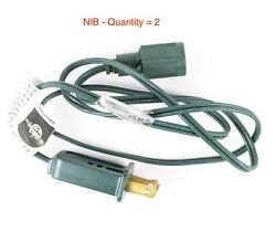 Lot of 2 Green 36quot; Adapter Power Cord for Commercial Lights New in packaging