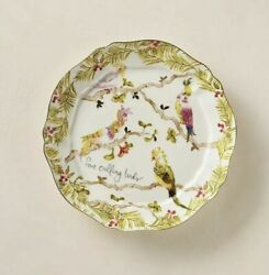 Anthropologie Inslee Fariss 12 Days of Christmas Plate #4 Calling Birds 1 Plate $75.00