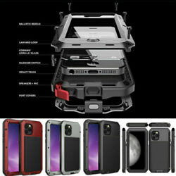Aluminum Heavy Duty Metal Case Shockproof For iPhone 12 11 SE XR XS 8 7 Pro Max $13.96