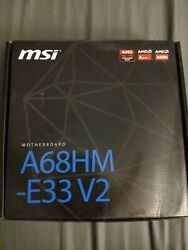 Msi Motherboard A68hm E33v2 Opened Box Never Used $50.00