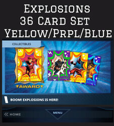 EXPLOSIONS 36 CARD SET YELLOW PURPLE BLUE TOPPS MARVEL COLLECT $7.89