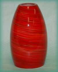 PENDANT Style Light SHADE RED Swirl Cased Glass 7 1 2quot; Replacement $24.95