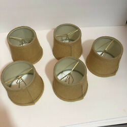 Lamp Shade clip on XS Extra Small Burlap lot of 5 $42.00