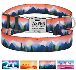 Nylon Personalized Dog Collar Free Engraved Collars Small Medium Large Dogs $15.99