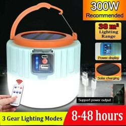 Bright Remote Control Solar LED Camping Lamp Rechargeable Light Bulb Tent Light $16.99