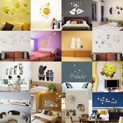 Removable Home Mirror Wall Stickers Decal Art Vinyl Room Decor DIY Self adhesive $7.29