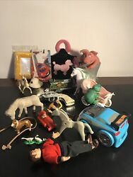 Junk Drawer Lot vintage Collectibles Toy Figures Disney Toy Story Cars Geobra $19.77
