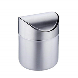 HUA Mini Trash Can for Desk with Lid Desktop Trash Can Small Tiny Countertop Bin $14.91
