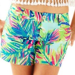 EUC Lilly Pulitzer Callahan Shorts in Multi Island Time Size 6 $39.99