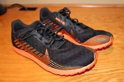 NEW NIKE ZOOM RIVAL WAFFLE Cross Country Shoes AJ0852 002 BLK ORANGE SIZE 10 $49.95