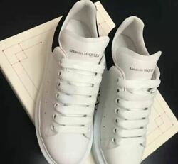 Super classic little white shoes black man Alexander McQueen free shipping $290.04