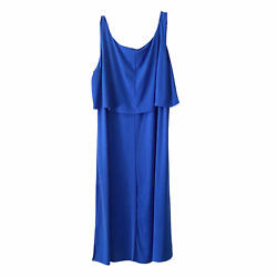 Woman Within Women#x27;s Dress Royal Blue Sleeveless Maxi Plus Size 3X $29.00