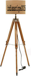 Beautiful wooden Tripod Decorative Floor shade lamp with stand without shade $80.00