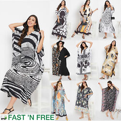 Gypsie Blu Women Kaftan Beach Dress Evening Gown Casual Summer Maxi Sundress $13.99