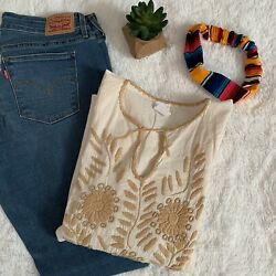 """Mexican """"Rococo"""" Embroidered Boho Top S M NEW $29.99"""