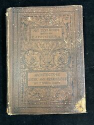 1880 ARCHITECTURE GOTHIC AND RENAISSANCE BY T. ROGER SMITH US SENATOR#x27;S COPY