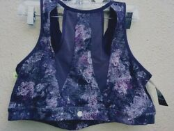 NWT Champion Sports Bra Plus Size 3X Duo Dry Purple Print Mesh Inserts in Back $16.99