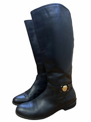 Tommy Hilfiger Black TWDEWBERRY Womens Calf Riding Style Boots Size 9 $16.00