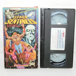 Space Sentinels Double Feature Filmation 1989 UAV VHS Video 42 mins amp; Box $9.75
