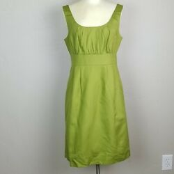 J. Crew Women#x27;s Sleeveless Green Cotton Sheath Dress Career to Cocktail Size 10 $29.95